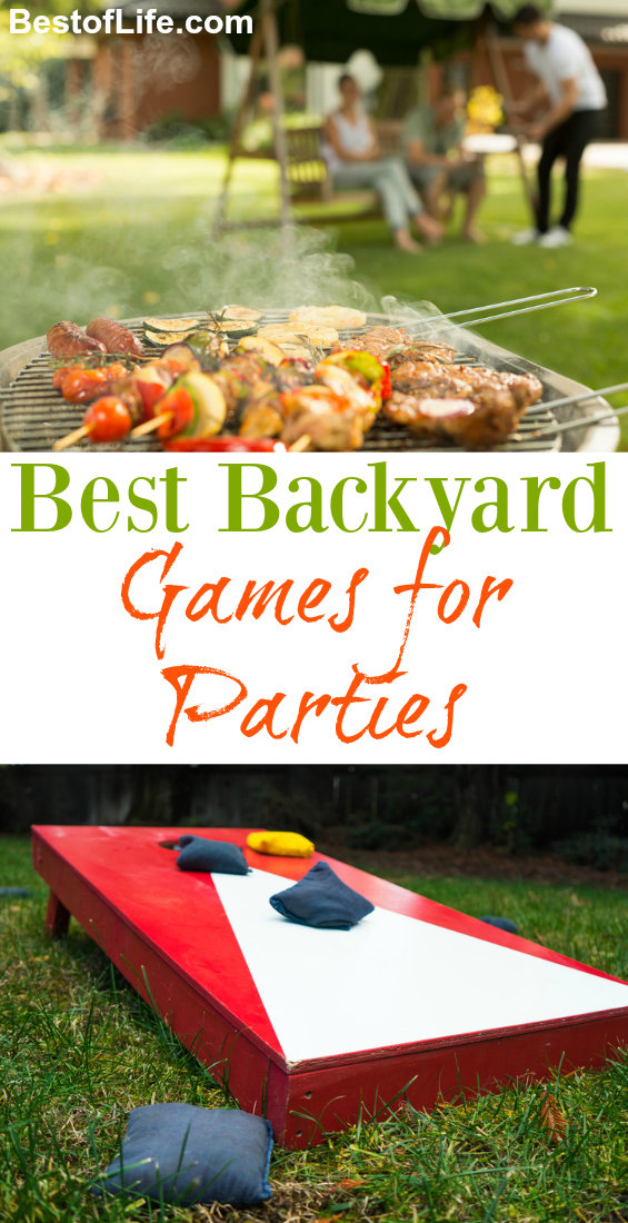 Backyard BBQ's go on all year round! Here are ten of the best backyard games to make your party a total blast! Things to do Outside | Outdoor Games | Games to Play Outside #summer #backyard #games