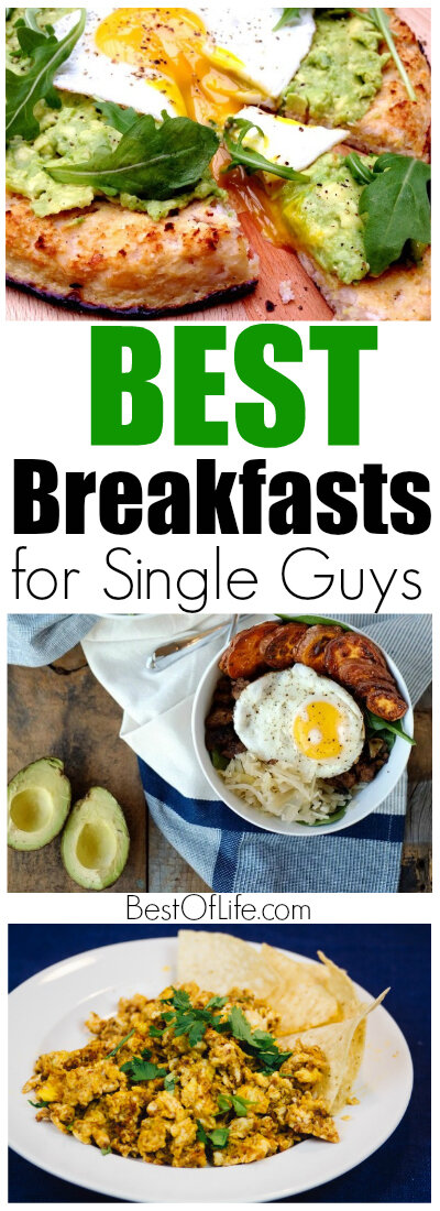 When it comes to being a single guy, breakfast is an afterthought, but that doesn't mean you can't enjoy the best breakfasts for single guys. Breakfast Recipes | Cheap Breakfast Ideas | Easy Breakfast Ideas | Breakfast for Men #recipes #breakfast