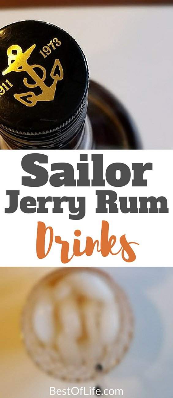 Here you have the best Sailor Jerry rum drinks that offer flavor and flare for a weeknight or weekend staple. Enjoy these best drinks with rum responsibly! Sailor Jerry Recipes | Best Rum Recipes | Best Cocktails with Rum | Sailor Jerry Cocktails | Easy Sailor Jerry Drinks #happyhour #drinks #sailorjerry #rum