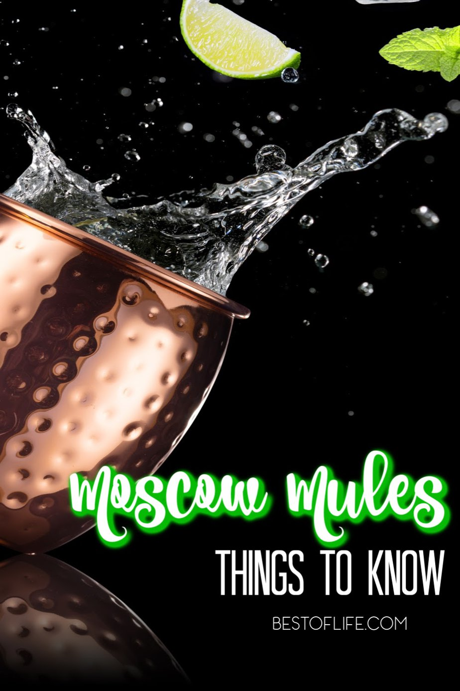 When you understand the best things to know about Moscow Mules, you will have a deeper appreciation for the classic cocktail, the Moscow Mule. Moscow Mule Recipes | Fall Cocktails | Best Cocktails | Vodka Cocktails #cocktails #moscowmule