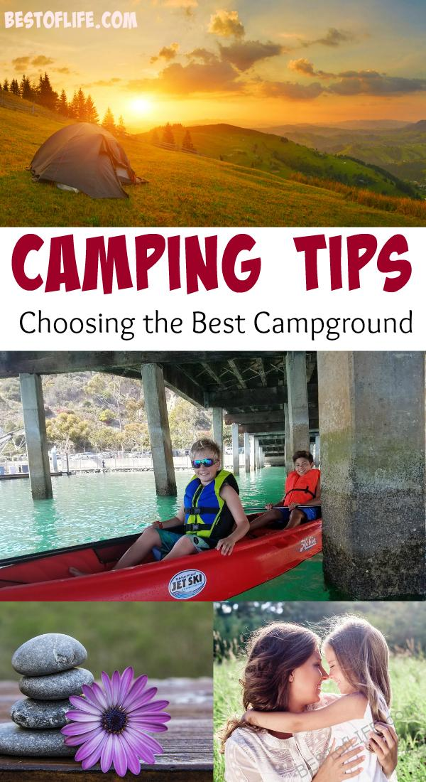 Camping is a tradition for many people; whether going all natural or glamping in a supersized RV, knowing important camping tips helps make the trip the best it can be. Camping Tips | Packing Lists | Travel Tips #camping #travel via @thebestoflife