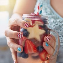 Painting your nails is a great form of self-expression and having red white and blue nails is a natural and fun way to show your love of the USA and your patriotism. Holiday Nails Ideas | Fourth of July Nail Styles | Nail Designs #fourthofjuly #naildesigns #nails
