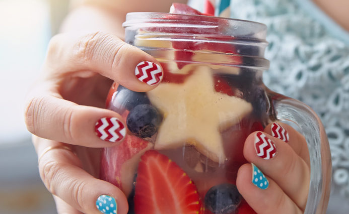Red White and Blue Nails to Show your Patriotism