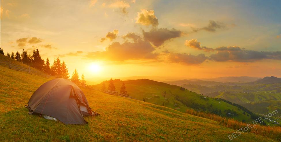 Camping is a tradition for many people; whether going all natural or glamping in a supersized RV, knowing important camping tips helps make the trip the best it can be. Camping Tips | Packing Lists | Travel Tips #camping #travel