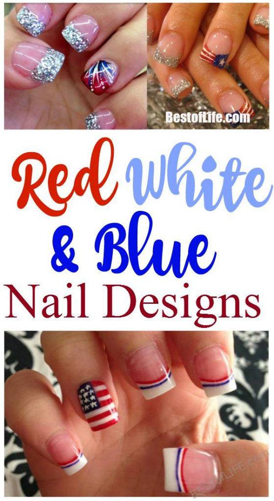 Painting your nails is a great form of self-expression and having red white and blue nails is a natural and fun way to show your love of the USA and your patriotism.