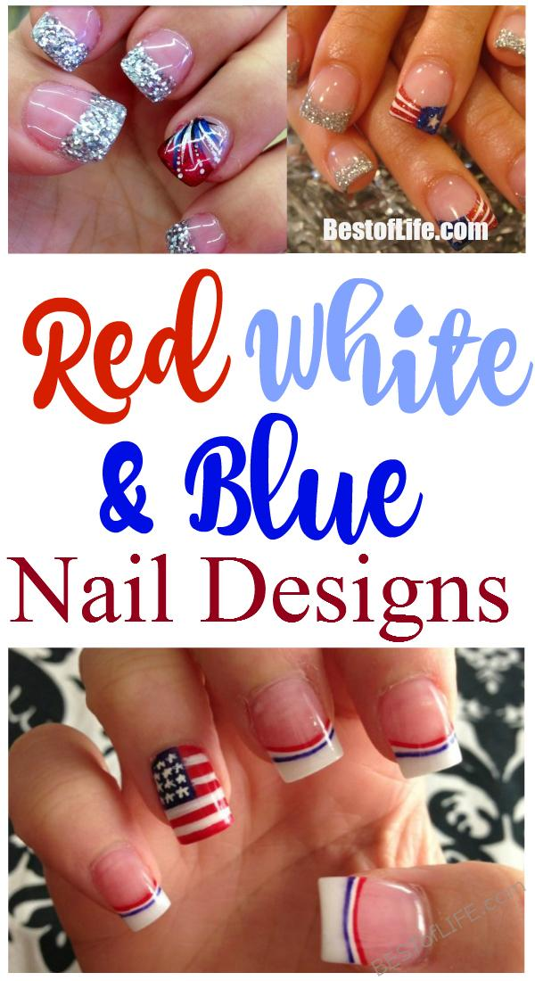Painting your nails is a great form of self-expression and having red white and blue nails is a natural and fun way to show your love of the USA and your patriotism. Holiday Nails Ideas | Fourth of July Nail Styles | Nail Designs #fourthofjuly #naildesigns #nails via @thebestoflife