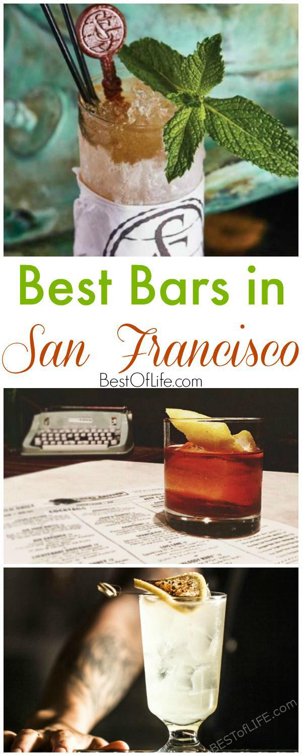 The Best Bars in San Francisco will give you a taste of the city. From the financial district to the mission district every bar offers something different. Things to Do in San Francisco | Where to Drink in San Francisco | Best San Francisco Travel Tips #Sanfrancisco #california #happyhour