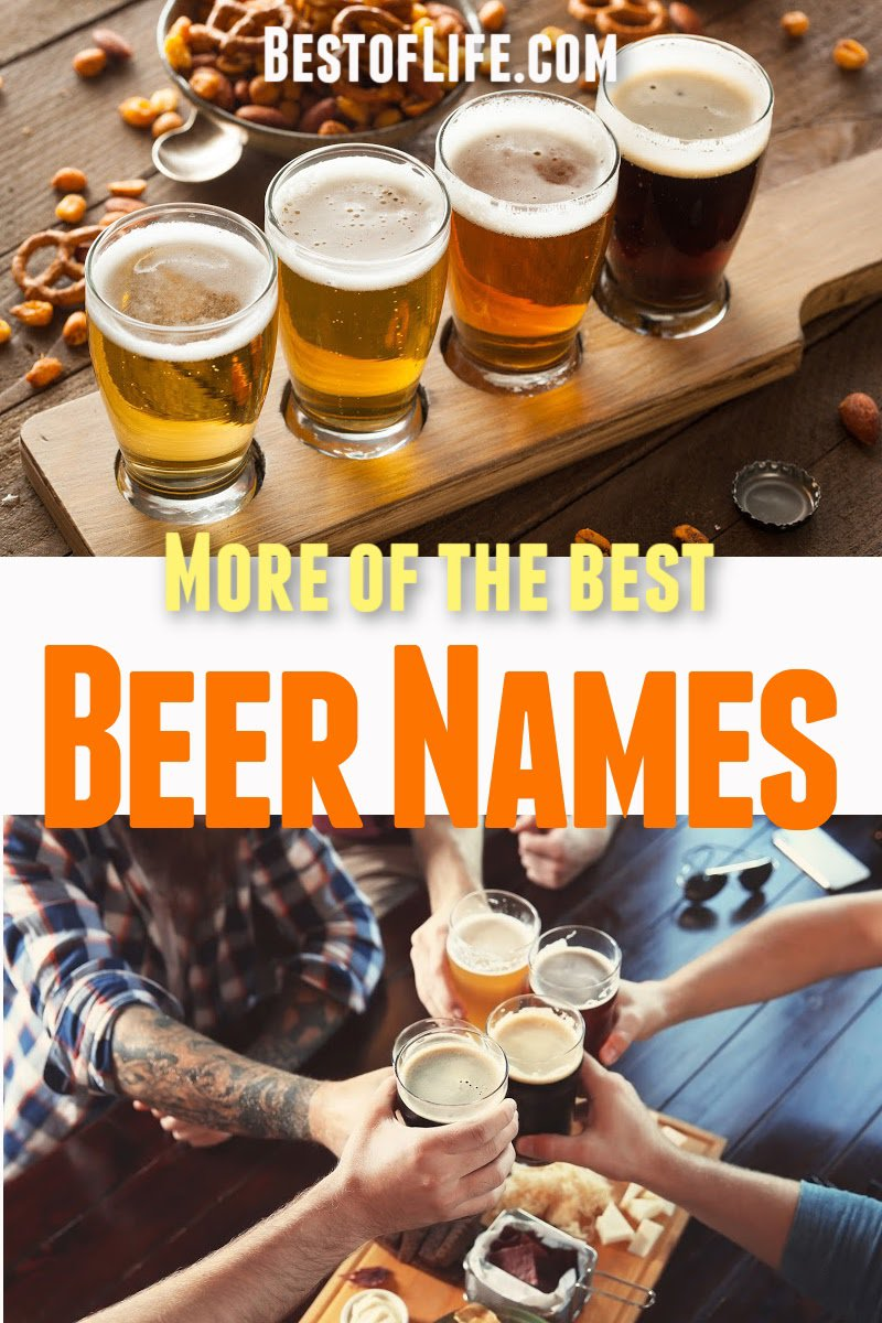 They say it's all in the name, check out more of the best beer names we could round up and decide for yourself if that's true! Best Beer Names | Best Beers | Best Craft Beers | Beers with the Best Names #beer #craftbeer #happyhour via @thebestoflife