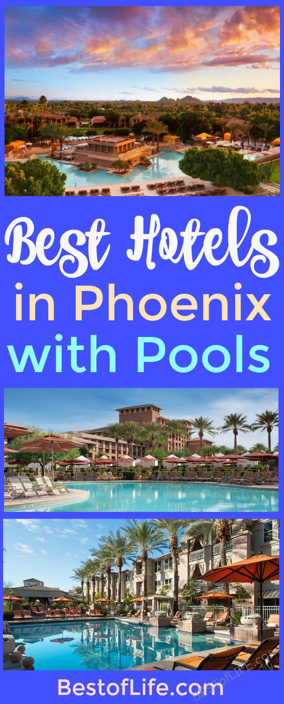 When visiting Arizona staying somewhere with a pool is a must! These are some of the best hotels in Phoenix with pools that are perfect for families, too.