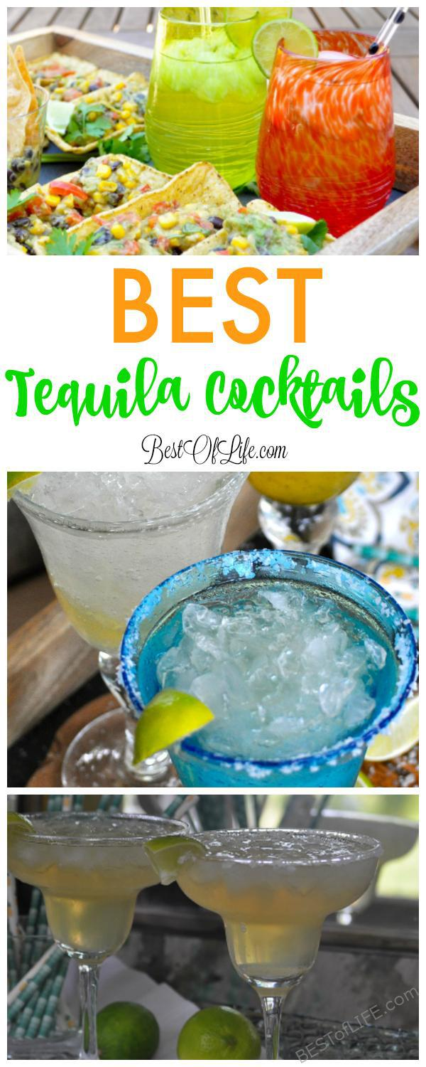 Enjoy these tasty tequila cocktails that aren't margaritas on Taco Tuesday or during happy hour. They give the margarita some competition and will impress friends, too! Easy Cocktail Recipes | Tequila Recipes | Happy Hour Recipes | Best Cocktails #tequila #cocktails #recipes #happyhour via @thebestoflife