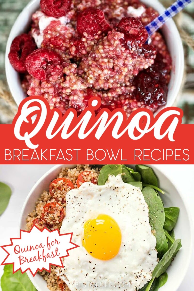 A quinoa breakfast bowl can be a nutritious and versatile way to start your day. From fruity, to dessert-like and even savory, here's a list of our favorite 15 quinoa breakfast bowls to start your day off right. Healthy Breakfast Recipes   Breakfast Bowl Recipes   Recipes with Quinoa   Quinoa Breakfast Recipes   Protein Breakfast Recipes   Weight Loss Recipes #breakfast #healthyrecipes via @thebestoflife
