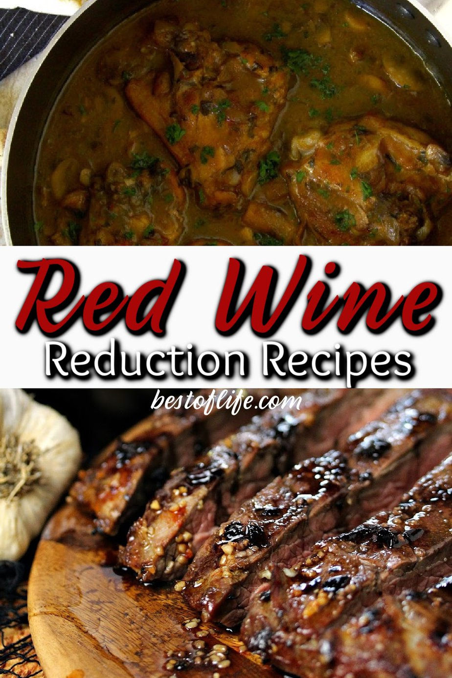 "Using a red wine reduction in your recipe is super easy and provides great results. Not to mention, people will be impressed with your cooking ""skills."" Recipes with Red Wine 