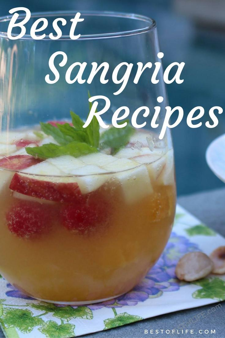 Having the perfect sangria recipes on hand for summer parties and gatherings will keep everyone refreshed as they sip on this well-loved wine-based drink. #sangria #happyhour #drinkrecipes | Best Sangria Recipe | Easy Sangria Recipe | Happy Hour Recipes via @thebestoflife