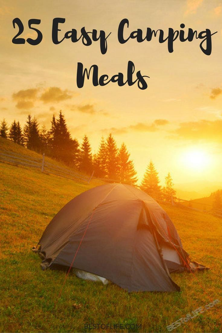 Time spent camping is supposed to be about nature vs cooking so use some of the best easy camping meals to get the energy you need and save on time. #camping #campingtips #campingrecipes #campingmeals #travel #besttravel #traveltips #travelplanning