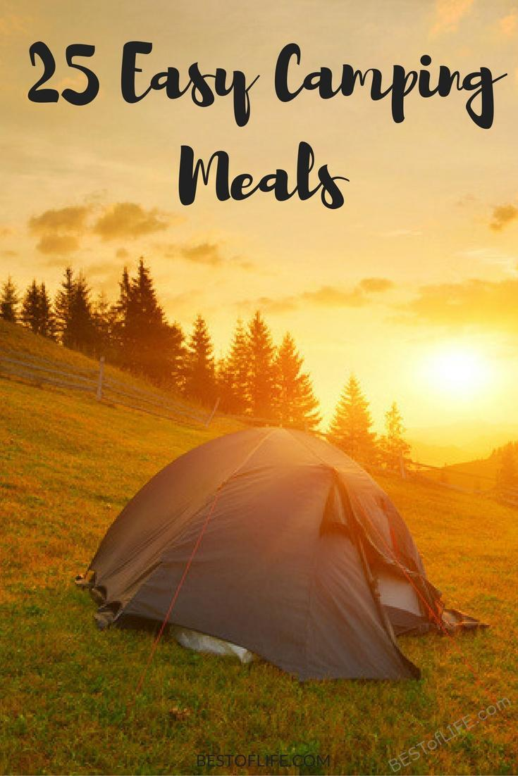 Time spent camping is supposed to be about nature vs cooking so use some of the best easy camping meals to get the energy you need and save on time. #camping #campingtips #campingrecipes #campingmeals #travel #besttravel #traveltips #travelplanning via @thebestoflife