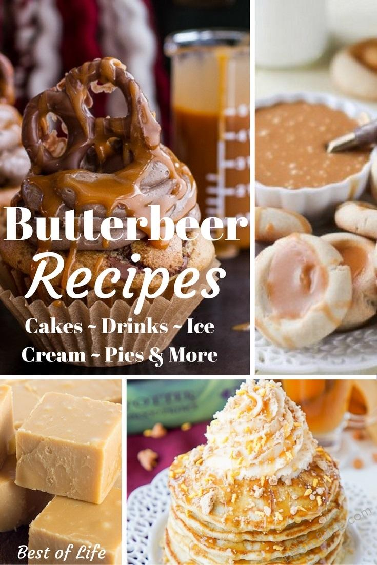 You can't levitate things with a spell, but you can still enjoy some Butterbeer recipes from the wizarding world Harry Potter introduced us to long ago. #harrypotter #wizardingworld #butterbeer #butterbeerrecipes #drinks #desserts #dessertrecipes