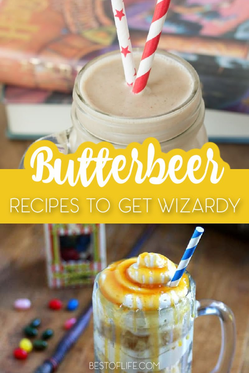 You can't levitate things with a spell, but you can still enjoy some Butterbeer recipes from the wizarding world of Harry Potter on Halloween and throughout the year. Harry Potter Recipes Butterbeer | Harry Potter Recipes Sweets | Butterbeer Nonalcoholic | Butterbeer Frappuccino | Harry Potter Aesthetic #harrypotterrecipes #halloween via @thebestoflife