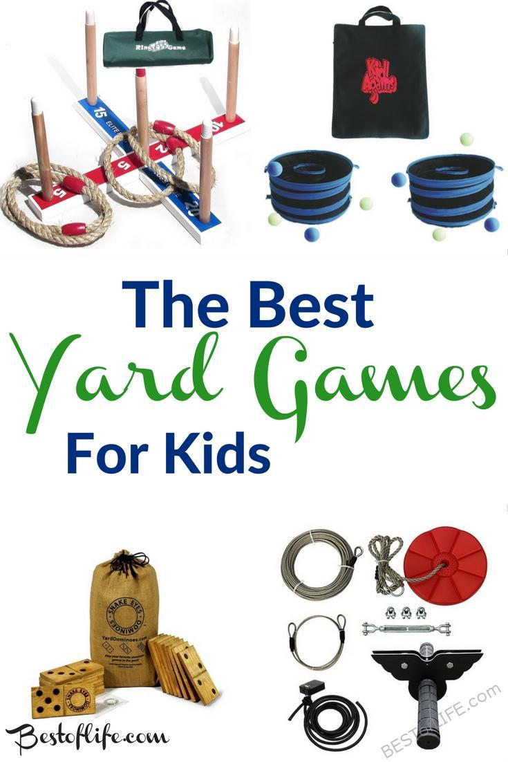 One of the best parts about being young is the freedom to run around outdoors. A great way to encourage that free spirit is with yard games for kids!