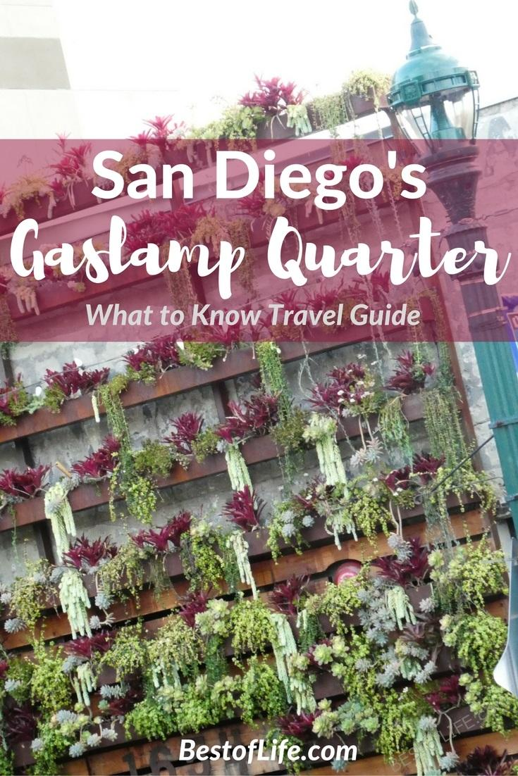 The Gaslamp Quarter in San Diego California is home to history as well as countless things to do for all travelers.
