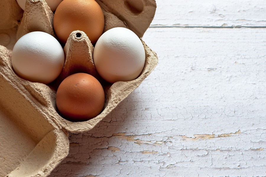 Healthy Egg Breakfast Recipes Overhead View of a Carton of Eggs