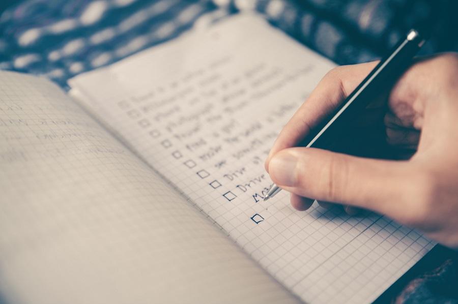 Make List a Person Making a List