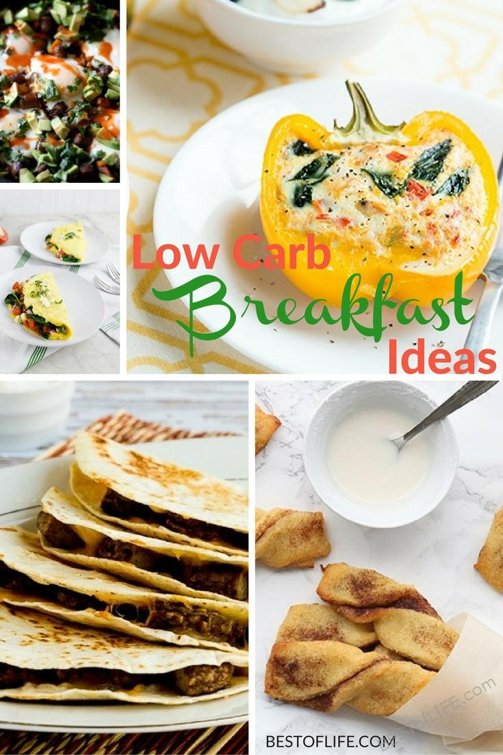 Breakfast is the most important meal of the day, that doesn't mean it has to be full of carbs! These low carb breakfast ideas will keep you on track.