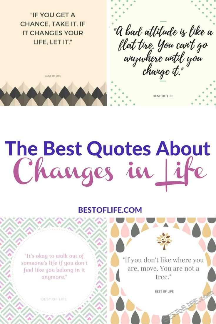 Quotes On Changes In Life Quotes About Change In Life  The Best Of Life  Best Food Travel