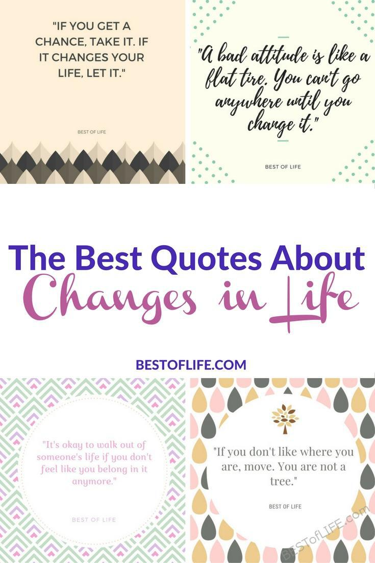 Quotes about change in life let us know that we're not alone. Everyone experiences change at some time or another and these quotes will help you get through it. Best Quotes About Change | Best Quotes | Inspiring Quotes | Motivational Quotes | Quotes About Life via @thebestoflife