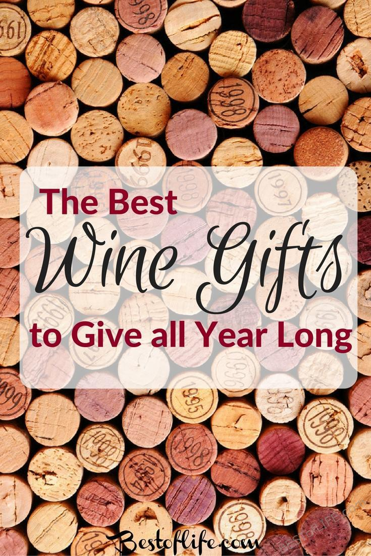 The best wine gifts are perfect for any occasion, not just the holidays. These are perfect 'anytime' gits to give the wine lover in your life!