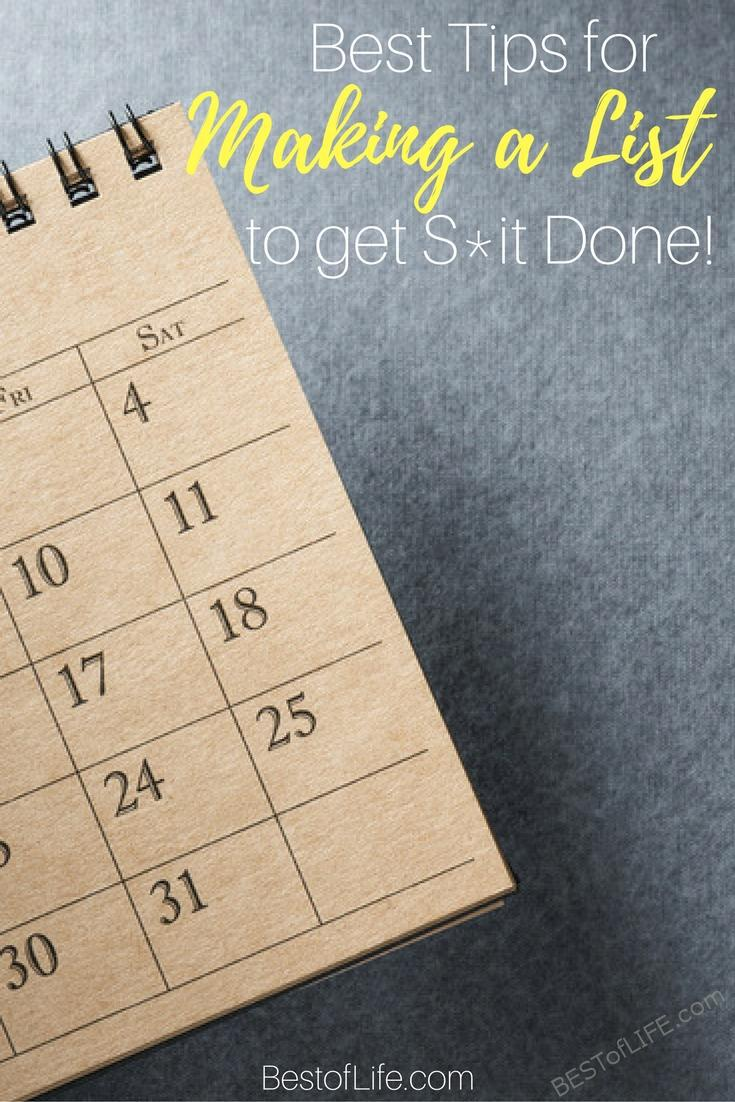 It's not always easy to stay on top of things. If you are busy one of the best ways to stay organized is to make list loving a priority!