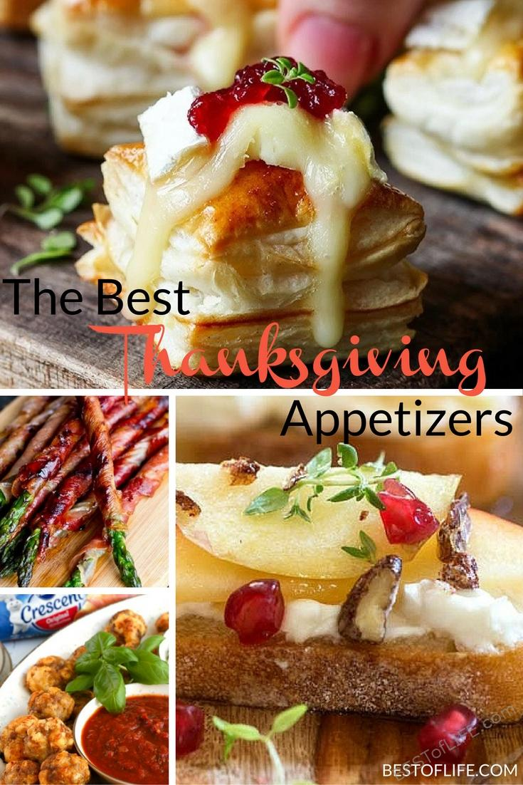 Thanksgiving appetizers need to be light, easy to make and if you can make them a day or two in advanced, even better. Keep sane with the best recipes.