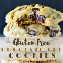 Whether you have a dietary restriction or just want to eat healthier, these gluten free chocolate chip cookies recipes will help you savor every bite. Best Chocolate Chip Cookie Recipe   Best Gluten Free Cookie Recipe   Easy Gluten Free Cookie Recipe   Easy Chocolate Chip Cookie Recipe   Healthy Chocolate Chip Cookie Recipe
