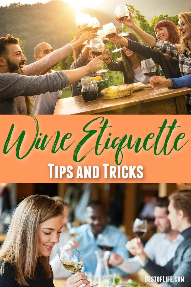 Use these wine etiquette tips to help you enjoy your glass of wine and feel comfortable drinking wine at parties and social events. Wine Etiquette Tips | What is Wine Etiquette | Wine Drinking Tips | Wine Tips | How to Drink Wine via @thebestoflife