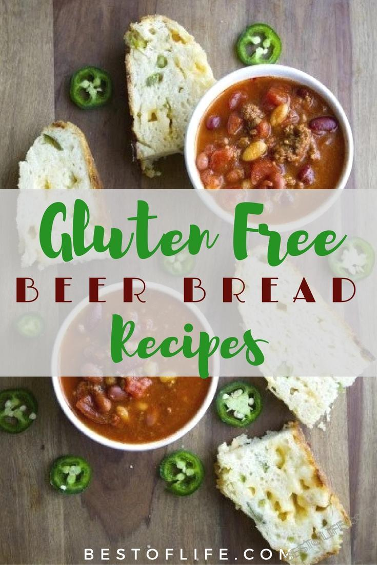 Gluten free beer bread recipes make this amazing type of bread easy for those with gluten allergies.