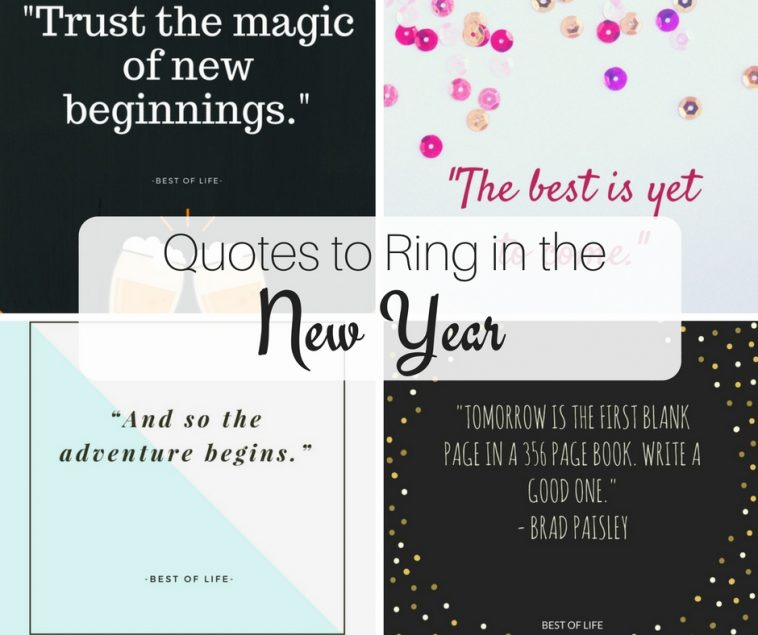 We are all getting ready to ring in the new year. These quotes will help you get the year started off on the right foot! Cheers to a new year!