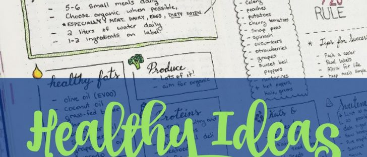Learn a few of the best bullet journal ideas to improve your health and to help you practice a healthier lifestyle one bullet point at a time.