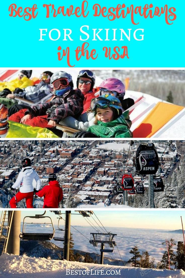 The US is home to many of the best travel destinations for skiing. Here are some of the best places to ski in the US that the whole family can enjoy. Where to Ski in the US | US Skiing Destinations | Skiing Tips | Winter Travel Tips | Winter Travel Destinations via @thebestoflife