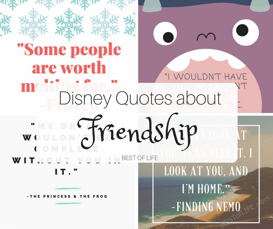 Photo Quotes About Friendship: Disney Quotes About Friendship