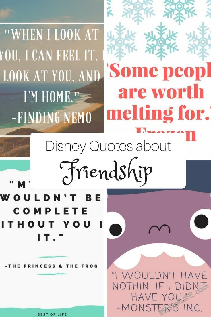 Itu0027s Easy To Find Disney Quotes About Friendship In Everything They Do.  From Books To