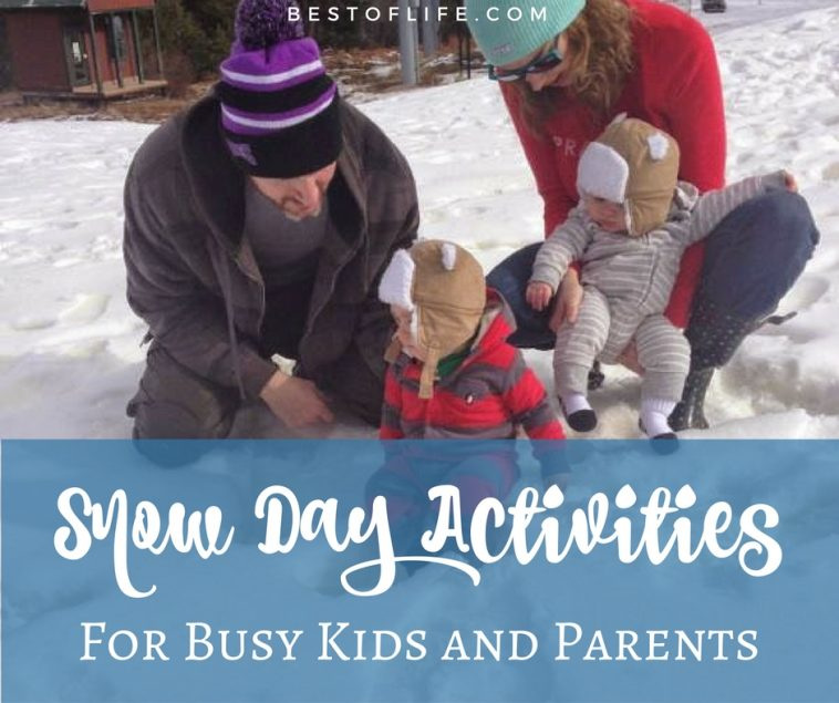 Finding the best snow day activities will help you keep your children safe and having fun; not to mention out of your way if it comes to that.