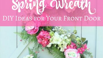 DIY spring wreath ideas help bring a little taste of the season to your front porch in the best and easiest way possible.