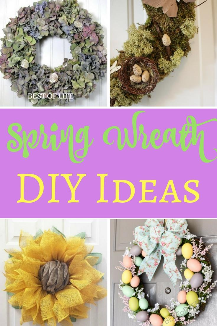 DIY spring wreath ideas help bring a little taste of the season to your front porch in the best and easiest way possible. DIY Spring Decor | DIY Home Decor | Easy DIY Decor | Best DIY Home Decor Ideas | Spring Decor Ideas | Best Spring Decor Ideas | Easy Spring Decor Ideas via @thebestoflife