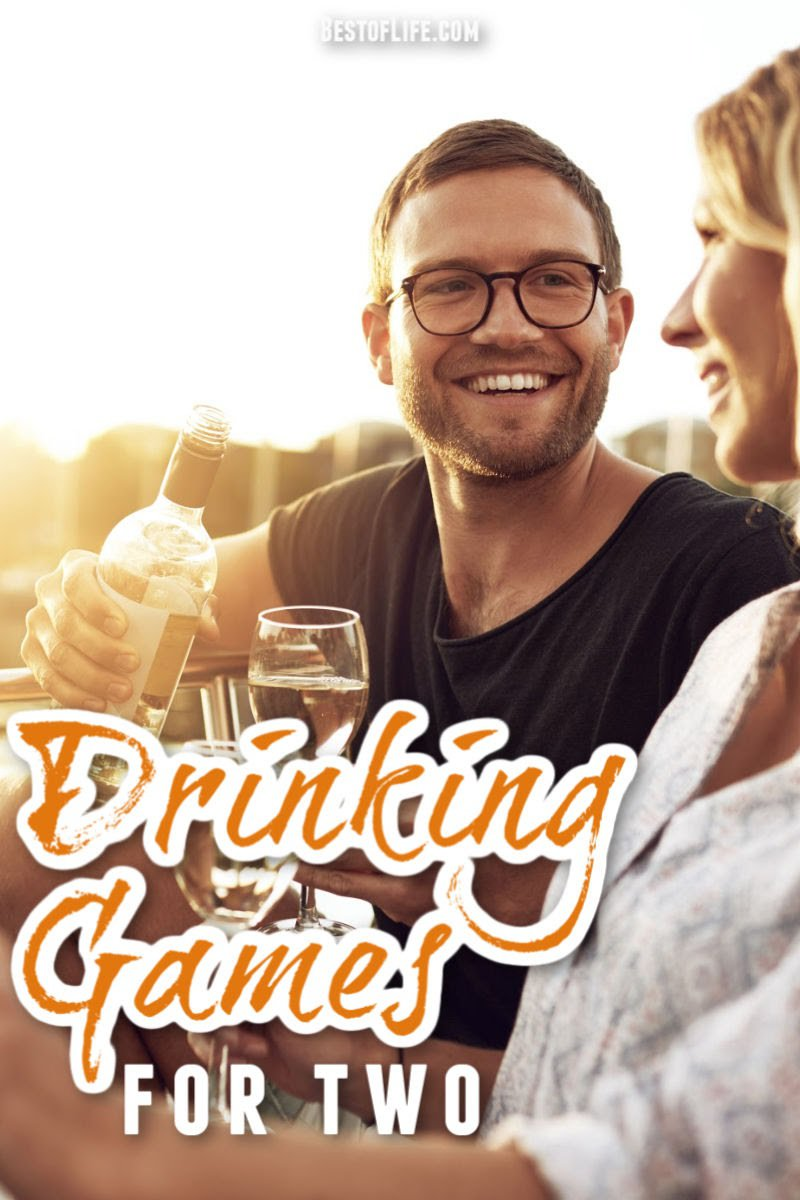 Let fun drinking games for two add laughs to a night of enjoying a glass of wine or shot of liquor with a significant other or friend. Drinking Games | Best Drinking Games | Wine Drinking Games | Drinking Games for Two | Best Drinking Games for Two via @thebestoflife