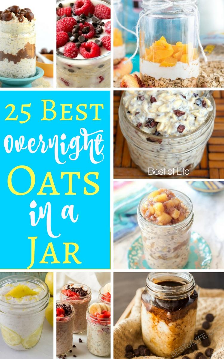 The best overnight oats in a jar recipes offer a healthy breakfast that anyone in the family can take on the go. These overnight oats recipes are also the perfect healthy snack option. Overnight Oats Recipes   Best Overnight Oats   Healthy Overnight Oats Recipes #easyrecipes #overnightoats #Easybreakfastrecipes #breakfastrecipes #snackrecipes via @thebestoflife