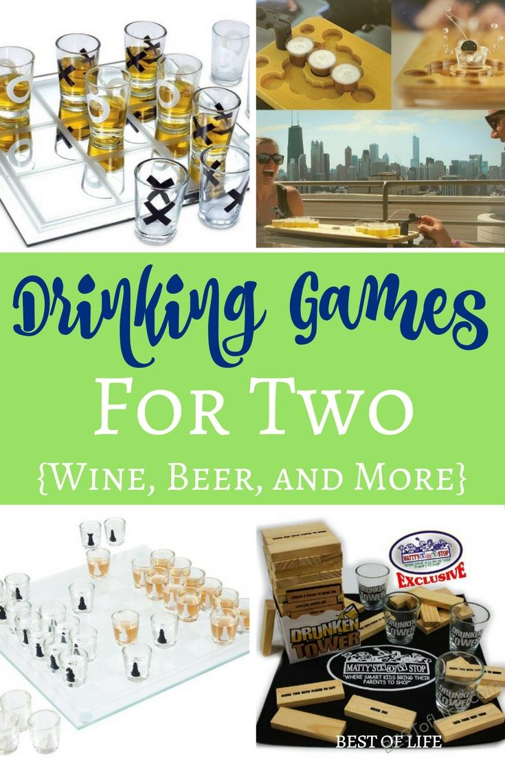 Let fun drinking games for two add laughs to a night of enjoying a glass of wine or shot of liquor with a significant other or friend.