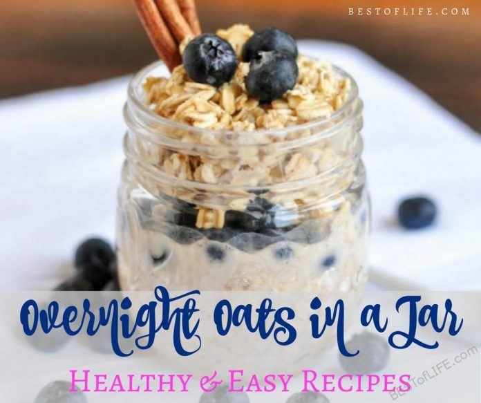 The best overnight oats in a jar recipes offer a healthy breakfast that anyone in the family can take on the go. These overnight oats recipes are also the perfect healthy snack option. Overnight Oats Recipes | Best Overnight Oats | Healthy Overnight Oats Recipes | Easy Overnight Oats | Healthy Breakfast Recipes | Easy Breakfast Recipes
