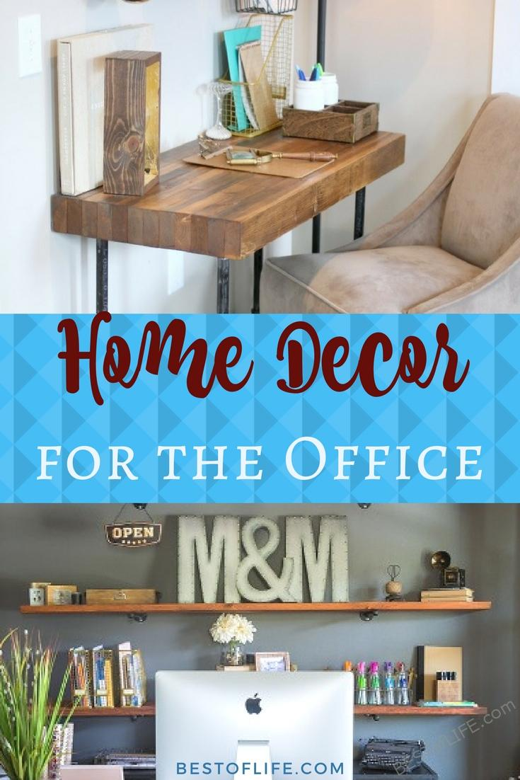 Ideas for the office use natural home decor ideas and combine them with workplace etiquette that will make you want to get to work every day. Home Office Decor Ideas | DIY Home Office Decor Ideas | Cheap Home Office Decor Ideas | Easy Home Office Decor Ideas via @thebestoflife