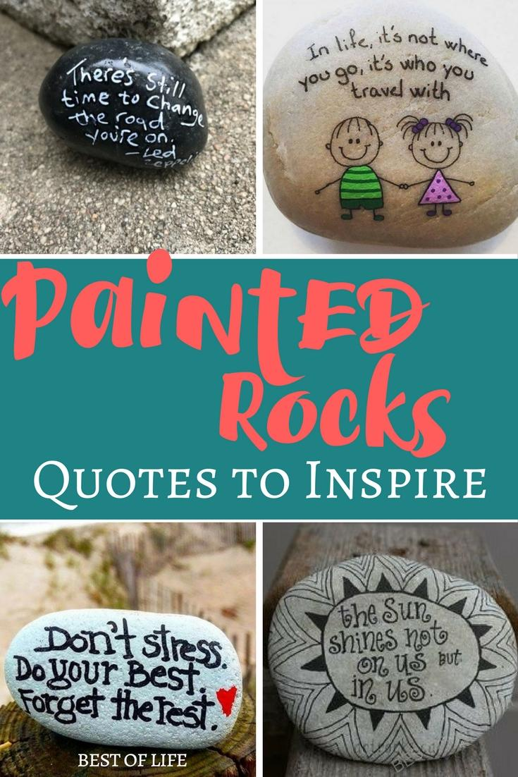 Making your own DIY painted rocks is easier when you have the best painted rock quotes to inspire others in the world. DIY Painted Rocks | Easy Painted Rocks Ideas | DIY Painted Rock Quotes | Painted Rock Ideas for Kids | Crafts for Kids via @thebestoflife