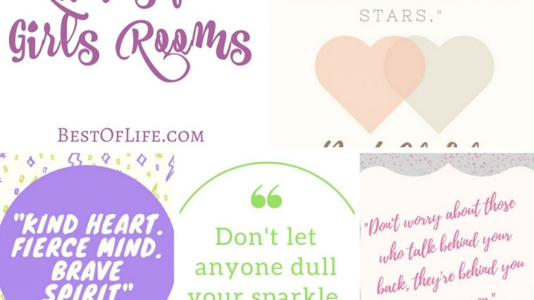 When choosing quotes for a girls room you have to find something that is just right! Something determined and whimsical with a touch of fun!