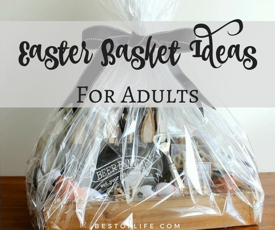 Easter basket ideas for adults no candy couples and more best adults want baskets too so help the easter bunny come up with some impressive easter negle Images